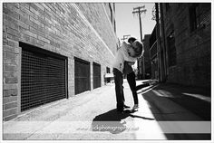lodo Denver engagement portraits in alley
