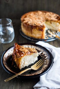 The bottom of the cake has the texture and flavor of a flan and the top has a crispy melted sugar sauce with chewy, toasted coconut. Coconut Flan, Coconut Recipes, Toasted Coconut, Just Desserts, Delicious Desserts, Dessert Recipes, Flan Cake, Sweet Pie, Moist Cakes