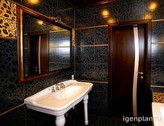 Когда леопардовый принт уместен…  Дизайнер Анна Исупова создала яркую, неповторимую ванную с подсветкой, дополнительно придающей загадочность пространства и спокойствие.  #дизайнинтерьера #igenplan #дизайнванной  #интерьерванной  #ванные