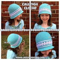 FREE crochet pattern for theNew Calleigh Cloche by Calleigh's Clips & Crochet Creations.
