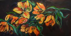 This where you can view the art I have painted over the years. — Art By Natalie Parrot Tulips, My Art Studio, My Arts, Orange, Yellow, Flowers, Painting, Beans Recipes, Floral
