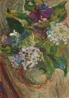 Still life with hydrangea on a vase