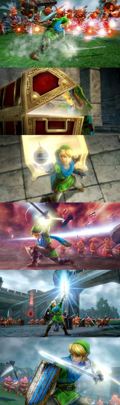 Hyrule Warriors | Link action mashup | #ZeldaHW #WiiU