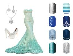 Elsa, from Frozen, Disney inspired Jamberry nail wraps http://ashleymagee.jamberrynails.net/