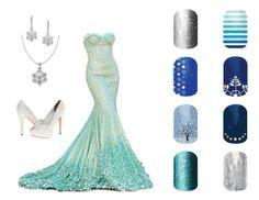 Elsa, from Frozen, Disney inspired Jamberry nail wraps http://katieshahan.jamberrynails.net/