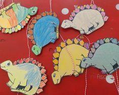 Pinkfisch Dinosaurier Party Bastelaktivität