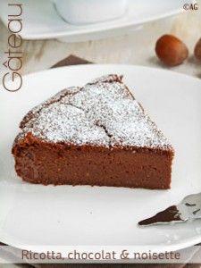 Hanane gateau chocolat ricotta