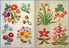 Small Flowers in Embroidery pages 5 & 6 - embroidery inspiration