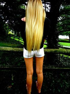 long blonde hair. To do for sure! Maybe in a year, I'll just do it, instead of chopping it.