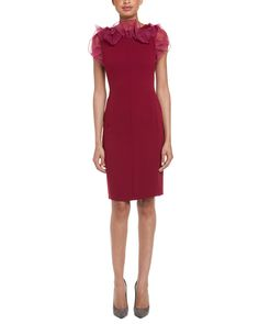 Max Mara Pianoforte Rieti Bordeaux Silk-Trimmed Ruffle Dress is on Rue. Shop it now.