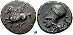 Idea para pulsera - Monedas de la antigüedad GRECIA - CORINTO