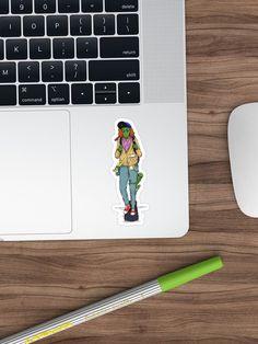 """""""Weird Alien stuff cool sticker"""" Sticker by Diardo Cool Stickers, Sell Your Art, Sticker Design, Skateboard, Weird, Finding Yourself, Cool Stuff, Prints, Skateboarding"""