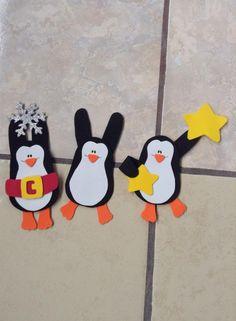 Pingüinos navideños