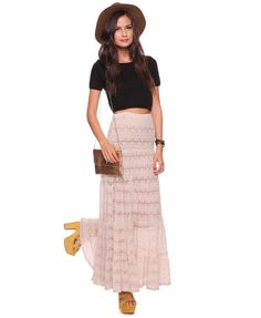 Maxi Length Lace Skirt | FOREVER21 - 2000022325