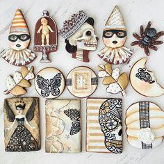 Staggeringly wonderful Halloween cookies by Arty Mcgoo. #art_cookies #Halloween #desserts