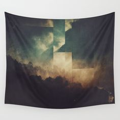 Fractions A20 Wall Tapestry. #abstract #landscape #nature #digital