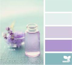 Purple and mint palette