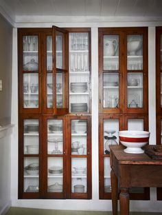 repurposed vintage cabinet doors. photo by dana gallagher.