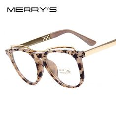 d537baaa7e2 MERRY S Fashion Women Cat s Eye Glasses Brand Designer Frames Print Frame  Women Eyeglasses Frames High quality