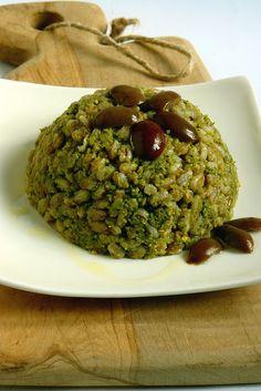 farro con pesto ai broccoli e nocciole