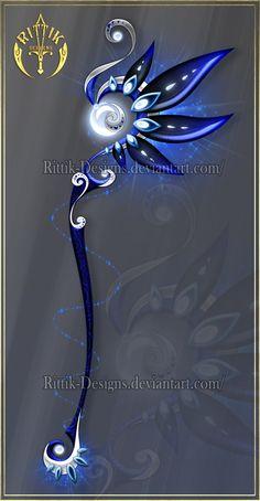 Night Dancer, staff adopt (OPEN) Auction by Rittik-Designs on DeviantArt Fantasy Concept Art, Fantasy Art, Les Lolirock, Armas Ninja, Aquarell Tattoo, Sword Design, Anime Weapons, Weapon Concept Art, Magic Art