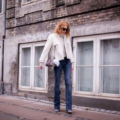 Ever chic blogger and Fashion Coordinator at ELLE Denmark #MariaJernov in #Pieszak Marija Flare Jeans