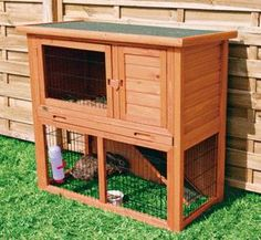 Trixie Natura Animal Hutch with Enclosure - Rabbit Cages & Hutches at Hayneedle Rabbit Hutch Plans, Outdoor Rabbit Hutch, Indoor Rabbit, Rabbit Hutches, Rabbit Cages, Bunny Cages, Cat Cages, Portable Chicken Coop, Best Chicken Coop