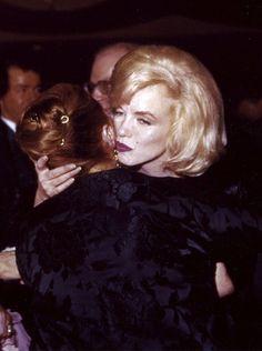 Marilyn Monroe and Paula Strasberg at the Actors Studio Benefit, Roseland Ballroom, NYC, March 13th 1961