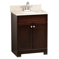 Style Selections 25-in Java Broadway Single Sink Bathroom Vanity with Top