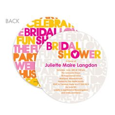 Gorgeous Bridal Shower Invitations For a Summer Party  #wedding