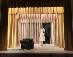 """""""The boat is Leaking. The Captain Lied"""" by Breaking The Fourth Wall, Set Design Theatre, Othello, Stage Set, Window Dressings, White Curtains, Curtain Designs, Draped Fabric, Restaurant Design"""