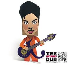 "PAPERMAU: Sign ""O"" The Times - Prince Paper Toy - by Tim Wertz"