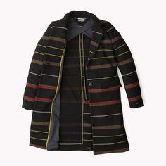 Tommy Hilfiger Cotton Blend Striped Coat - masters black / multi (Black) - Tommy Hilfiger Coats & Jackets - detail image 4