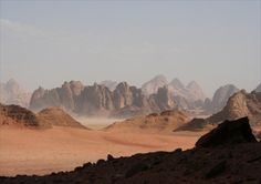 Wadi Rum, Jordan - a red, rocky desert, where my stepmom and I stayed in a Bedouin camp