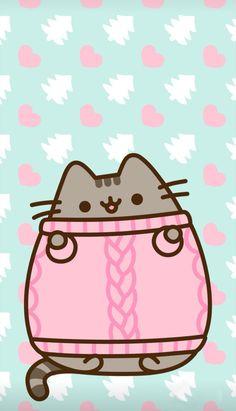 Pusheen❤️Christmas (not a grinch ?) Pusheen❤️Christmas (not a grinch ? Winter Wallpaper, Cat Wallpaper, Kawaii Wallpaper, Christmas Wallpaper, Wallpaper Iphone Cute, Iphone Backgrounds, Mobile Wallpaper, Wallpaper Samsung, Wallpaper Pictures