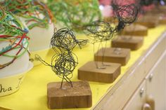 Wire sculptures. Love projects that are completely flexible to anything the imagination can come up with.