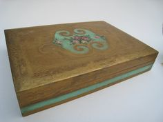 Florentine Gilded Floral Box for Documents or Treasures - Made in Italy
