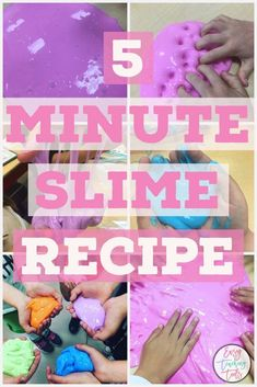Do your students go crazy for slime? I've got an easy slime recipe that we've been using in our classroom for the last 4 years. It's simple, isn't messy, and is a perfect for a classroom party or Fun Friday activity. Fun Classroom Activities, Party Activities, Activities For Kids, Steam Activities, 3rd Grade Classroom, Classroom Fun, Classroom Projects, Kindergarten Classroom, Easy Slime Recipe