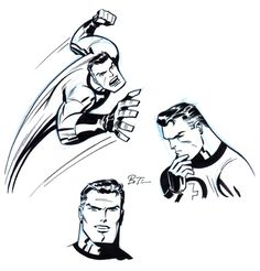 Fantastic Sketches - Bruce Timm, located in Gary's TIMM, Bruce Comic Art Gallery Bruce Timm, Comic Book Artists, Comic Artist, Comic Books Art, Mister Fantastic, Fantastic Four, Harley Quinn, Comic Character, Character Design
