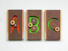 new modern wood toys and alphabets for kids - see more at SmallforBig.com #wood #toys #kids