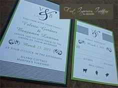 Striped Monogram Invitation