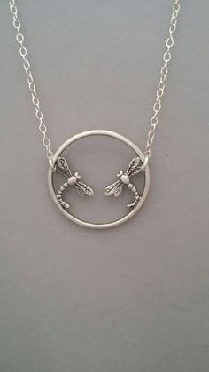 Check out this item in my Etsy shop https://www.etsy.com/listing/504116563/sterling-silver-necklace-dragonfly