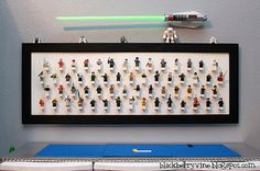 Love this Mini Figure board! We need to do this for the boys room.