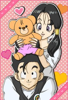 This would be an adorable picture if it were not for the annoying Videl