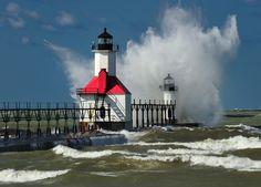 """Splash""  St. Joseph Lighthouse - St. Joseph, Michigan | by Michigan Nut"