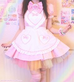 Image about fashion in kawaii💞👑 by lu on We Heart It Harajuku Girls, Harajuku Fashion, Kawaii Fashion, Lolita Fashion, Cute Fashion, Maid Outfit, Maid Dress, Girl Outfits, Cute Outfits