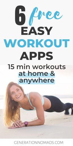 If you travel a lot, you probably know that it is difficult to stay healthy and fit on the road. Here is our list of 6 free apps that let you complete a full body workout at home, no gym needed. These are perfect for traveling if you're looking for an easy hotel room workout. We picked our favorite no equipment workout apps, so that you can exercise at home or anywhere. Perfect for digital nomads to stay fit while traveling. #traveltips #hotelroomworkout #homeworkout #digitalnomad #fitnesstips 15 Min Workout, Free Workout Apps, Workout Guide, Free Apps, Health And Fitness Apps, Fitness Tips, Easy Workouts, At Home Workouts, Best Weight Loss