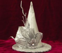 f59dca759d4 silver witch hat Halloween Hats