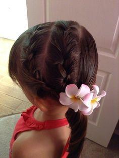 Little girl braided hair
