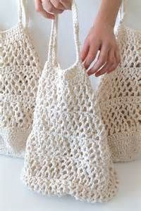 Crochet Market Tote Bag Organic Cotton SIMPLE